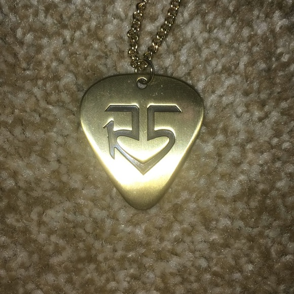 R5 gold guitar pick necklace poshmark r5 gold guitar pick necklace aloadofball Image collections